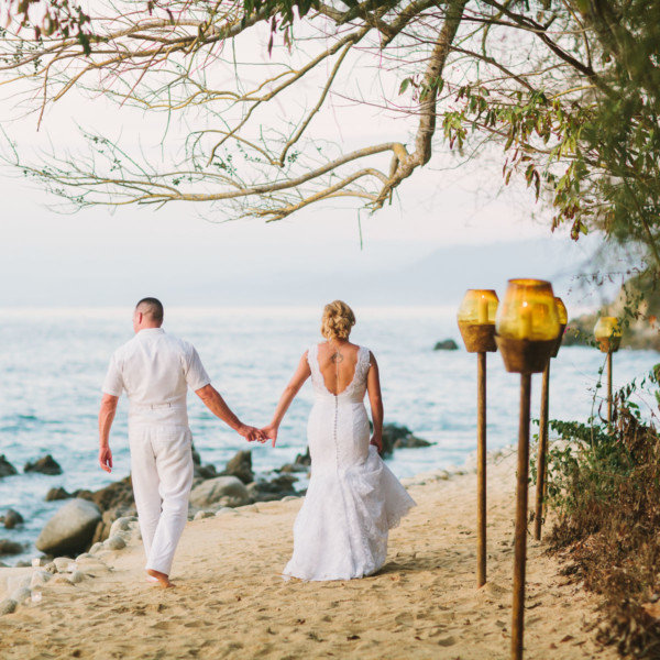 Intimate Rustic Mexican Beach Wedding