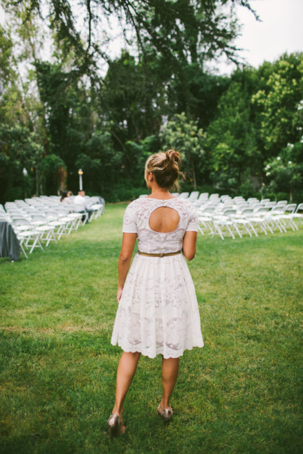 Rustic Bear-Themed San Diego Garden Wedding – Photo by Let's Frolic Together