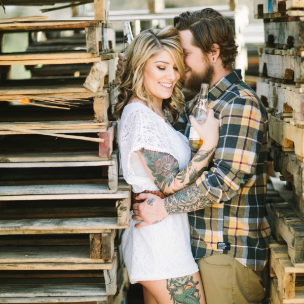 Tattooed Rustic Ranch Engagement