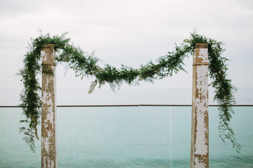 Misty Surf & Sand Resort Wedding – Photo by Let's Frolic Together
