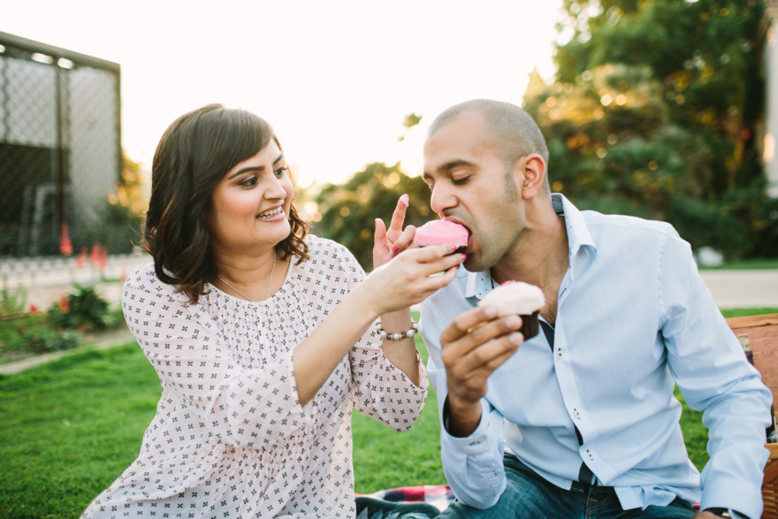 Sharing Sprinkles cupcakes - Nirag & Bijal's Sweet Blossoming Engagement by Let's Frolic Together