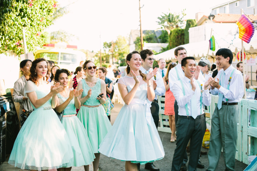 Colorful LA Zoo Block Party Wedding – Photo by Let's Frolic Together