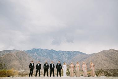 Modern Boho Desert Ace Hotel Wedding