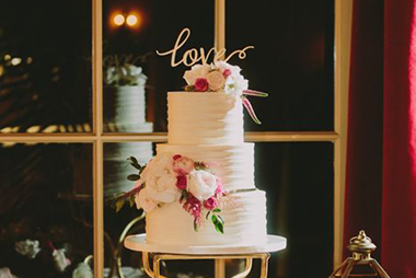 Classic Love Floral Cake