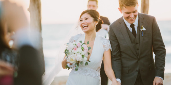 Romantic Sunny Seaside Wedding