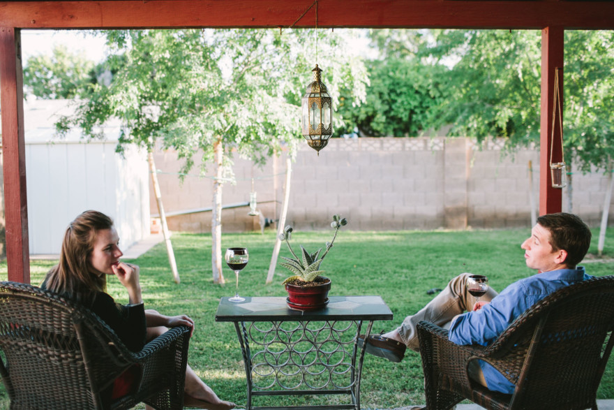 A Boozy Backyard Laugh Fest – Photo by Let's Frolic Together