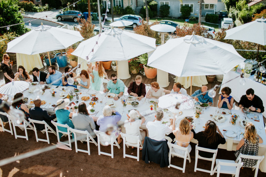 A Glowing Backyard Celebration – Photo by Let's Frolic Together