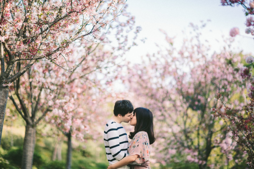 A Dreamy Cherry Blossom Engagement – Photo by Let's Frolic Together