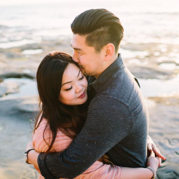 Cuddling on the Ocean Beach Shoreline