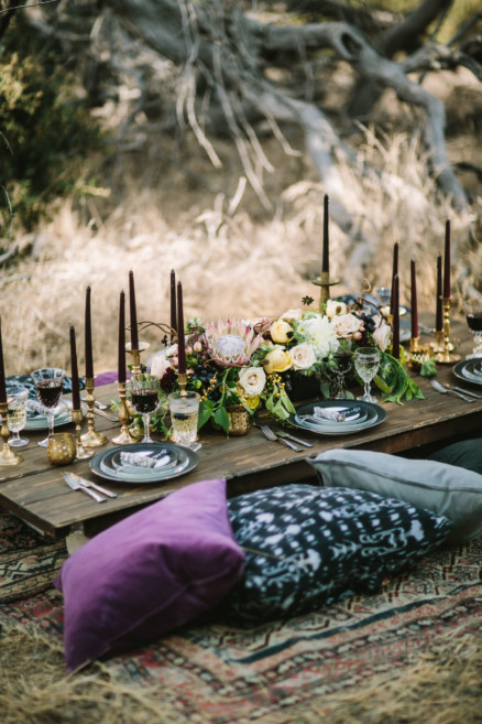 Spellbound Moody Wedding Inspiration – Photo by Let's Frolic Together