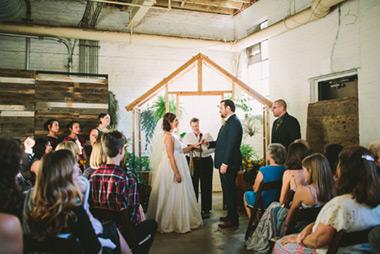 Greenhouse Wedding at Moniker Warehouse