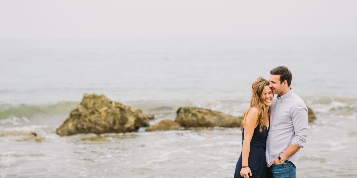 Love is Splashing By the Ocean – Photo by Let's Frolic Together