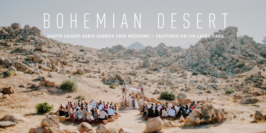 Boho Desert Wedding Magic