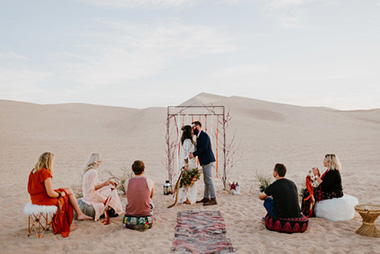 Nomadic Desert Caravan Wedding