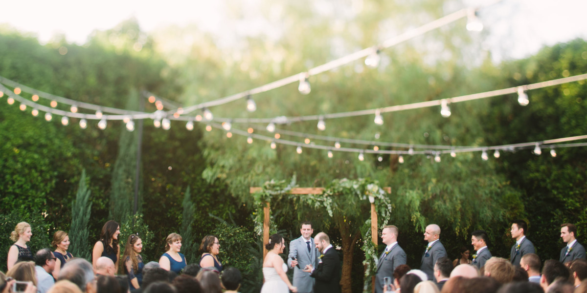 Wild Dinosaur Fig House Wedding – Photo by Let's Frolic Together