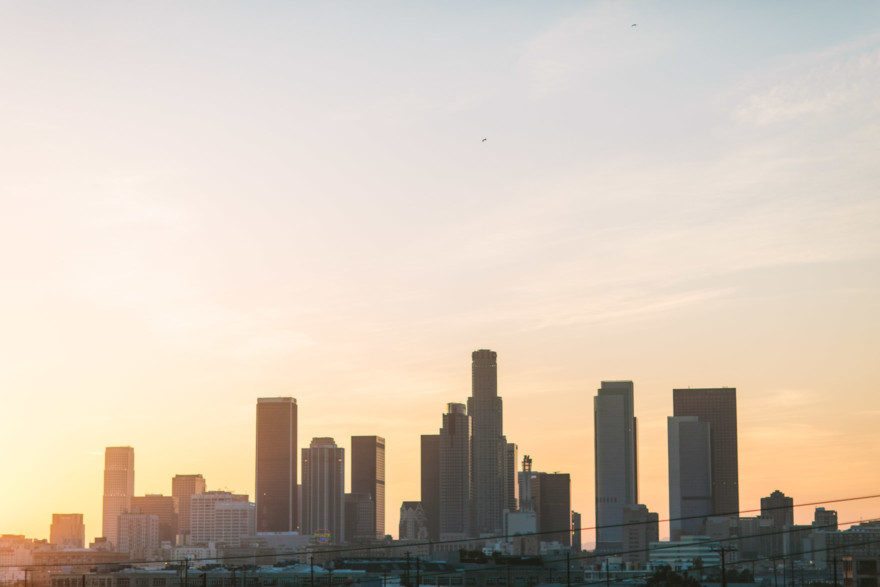 Golden Downtown LA Lovestory – Photo by Let's Frolic Together