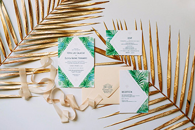 Art Deco Hawaiian Wedding