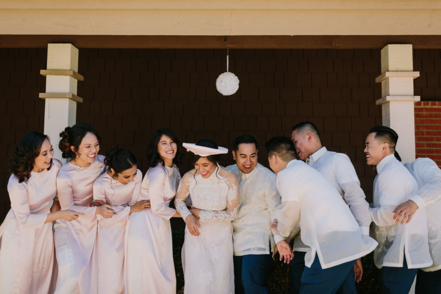 Playful, Vibrant Brick Wedding – Photo by Let's Frolic Together