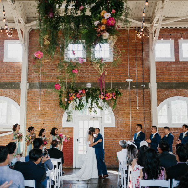 Playful, Vibrant Brick Wedding