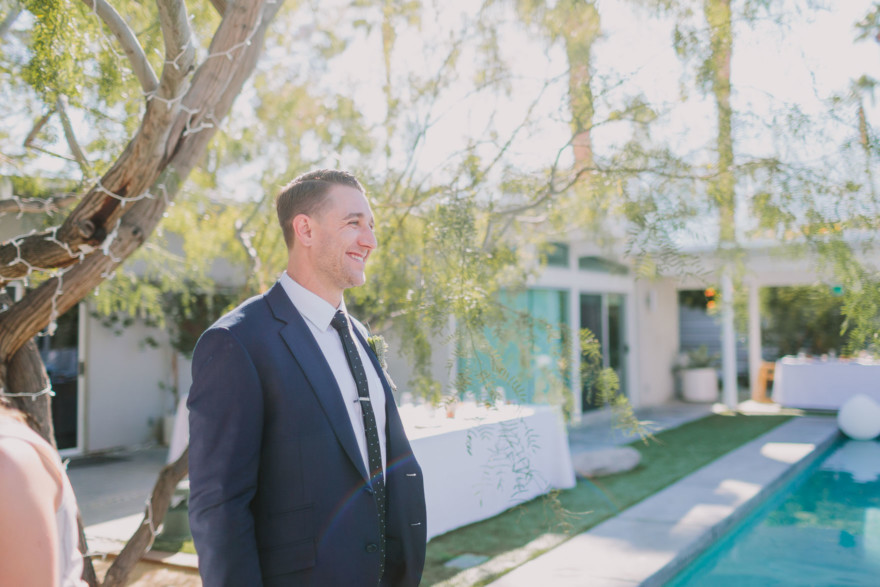 Backyard Palm Springs Wedding – Photo by Let's Frolic Together