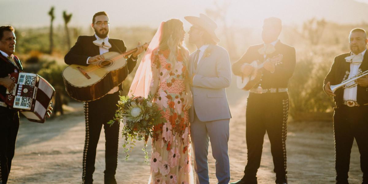 Dazzling, Inspired Desert Wedding