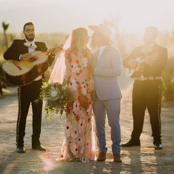 Dazzling, Inspired Desert Wedding