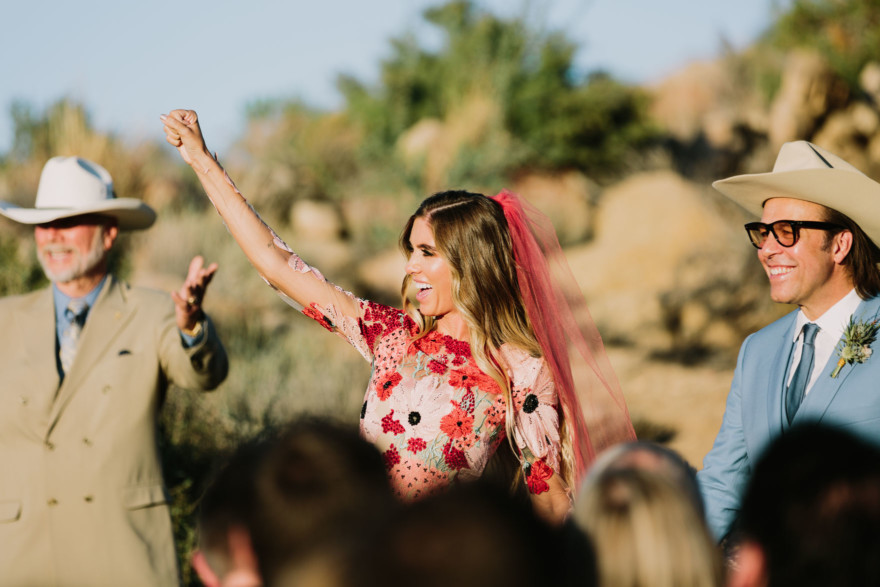Dazzling, Inspired Desert Wedding – Photo by Let's Frolic Together