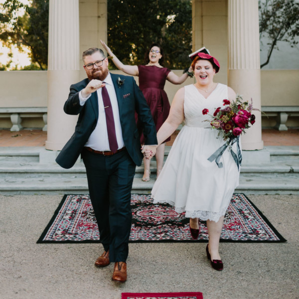 Vintage Balboa Park Intimate Wedding