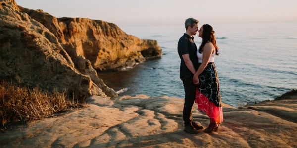 A Blissful Sunset Engagement – Photo by Let's Frolic Together