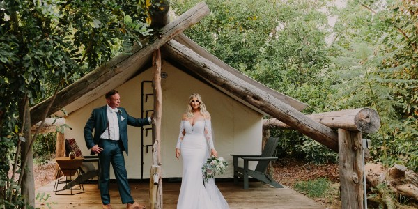 Rustic and Glam Garden Wedding