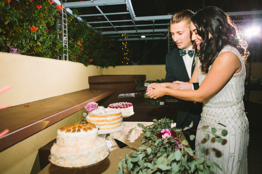 A Handcrafted Desert Garden Wedding – Photo by Let's Frolic Together