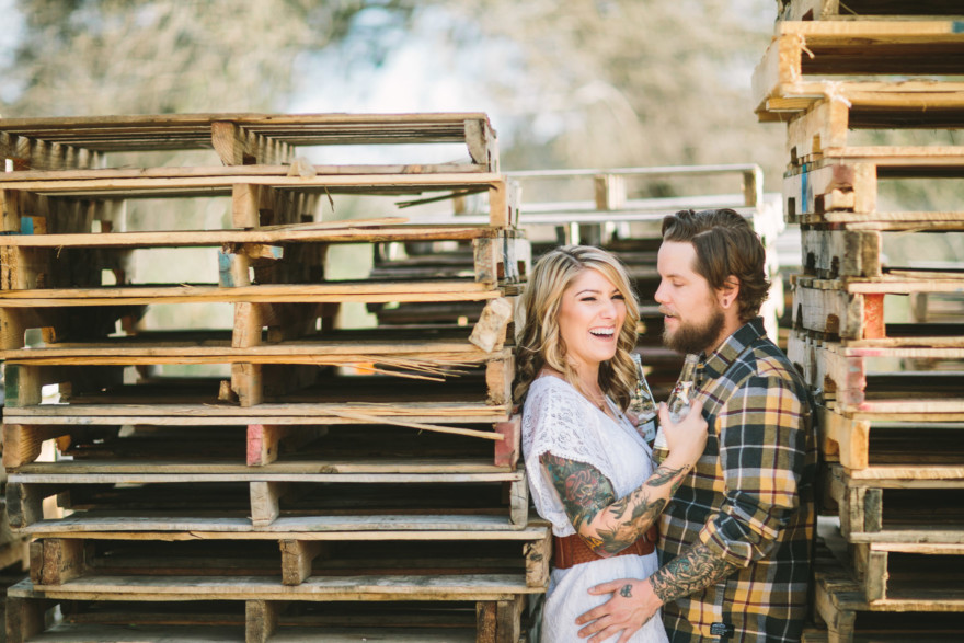 Tattooed Rustic Ranch Engagement – Photo by Let's Frolic Together