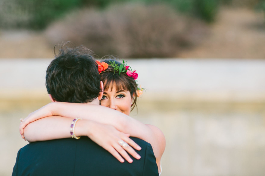 Colorful Scripps Seaside Wedding – Photo by Let's Frolic Together