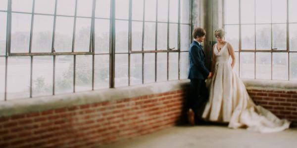 Urban East Coast Loft Wedding – Photo by Let's Frolic Together