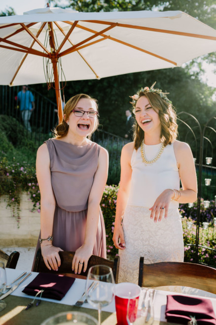 Darling Backyard Wedding with Dogs! – Photo by Let's Frolic Together