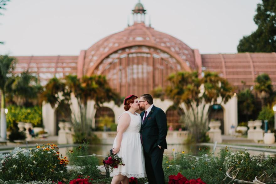Vintage Balboa Park Intimate Wedding – Photo by Let's Frolic Together