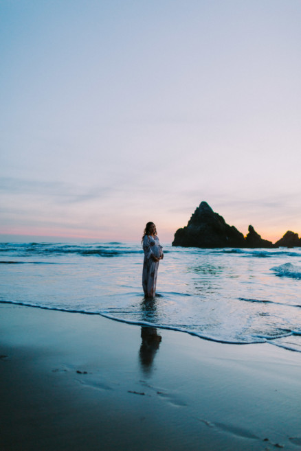 Baby Bump Magic at Sutro Baths – Photo by Let's Frolic Together