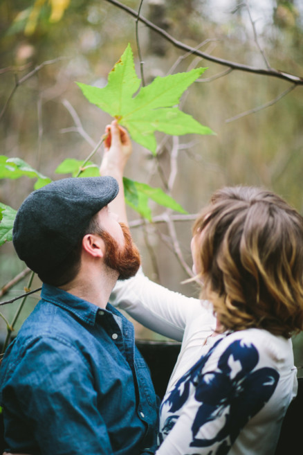 Engaged in the Forest – Photo by Let's Frolic Together