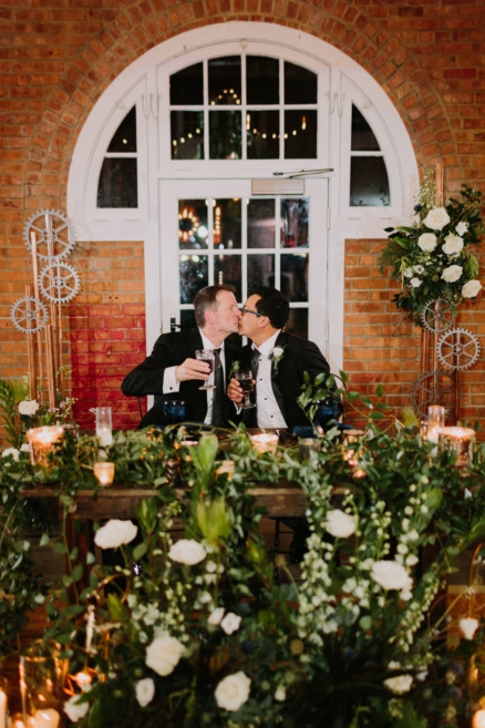 Feels-Filled Brick Wedding Bash – Photo by Let's Frolic Together