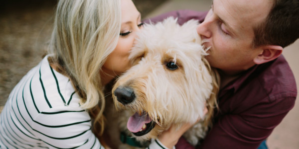 A Fur-Filled Engagement Stroll – Photo by Let's Frolic Together