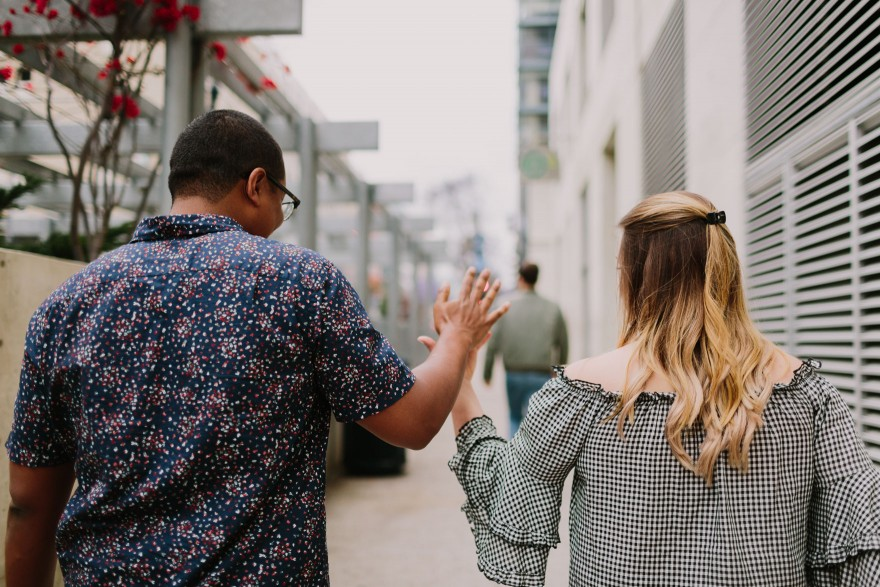 Playful Downtown Couple Fun – Photo by Let's Frolic Together
