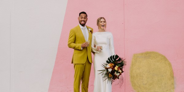 Modern Santa Barbara Garden Wedding Bash – Photo by Let's Frolic Together