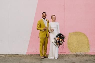 Vibrant Tiki-Modern Wedding
