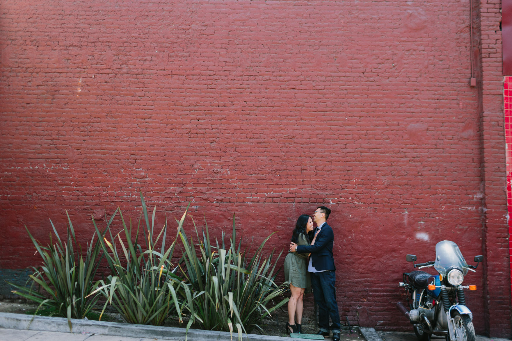 Engaged in Downtown LA – Photo by Let's Frolic Together