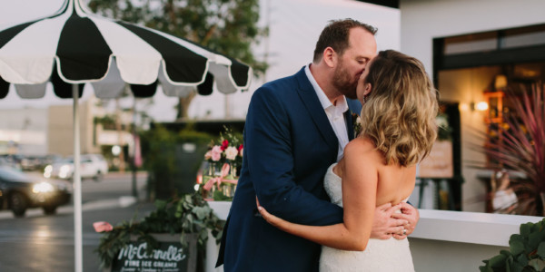 Backyard Wedding Pizza Party – Photo by Let's Frolic Together