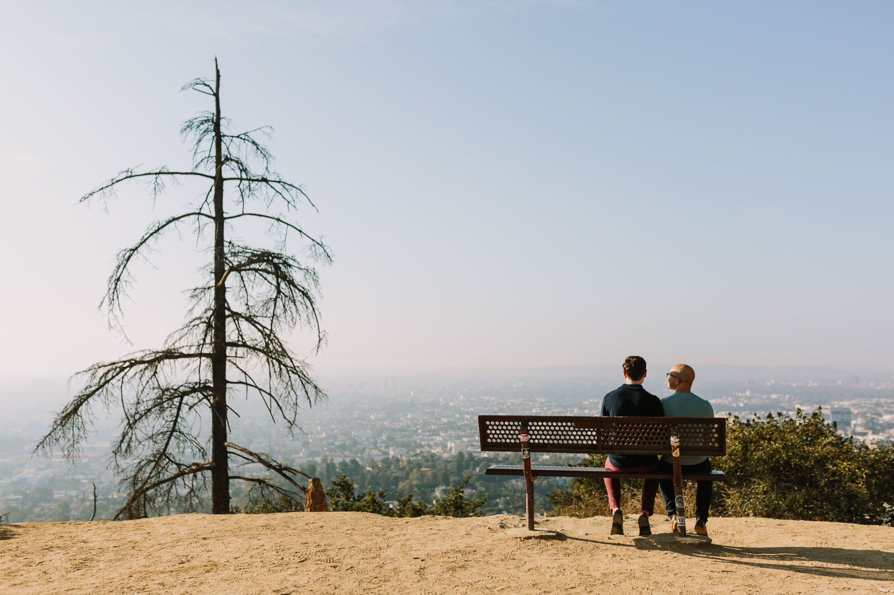 Surprise Proposal High above LA – Photo by Let's Frolic Together