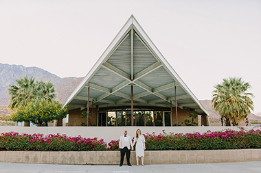 Mid-century Palm Springs Elopement